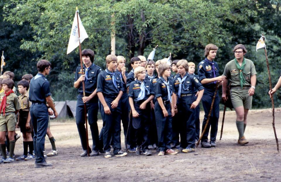 Oro Skautai Rakas Stovykla vasara 1977 metais